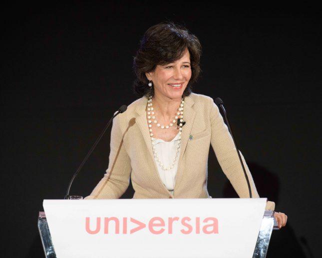 Ana Botín afirma que construir un futuro mejor está en manos de Universidades y emprendedores