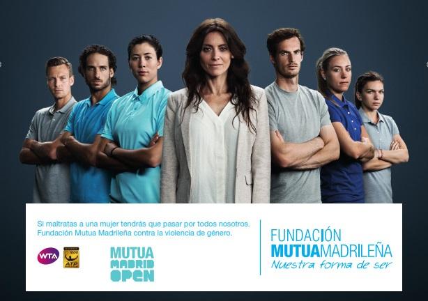 Fundación Mutua Madrileña y los mejores tenistas del mundo se unen contra la violencia de género