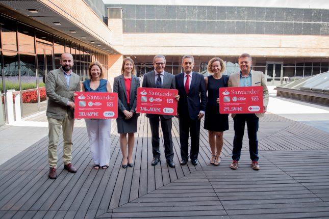 Banco Santander recauda 206.000 para proyectos de AECC, ACNUR y Cruz Roja