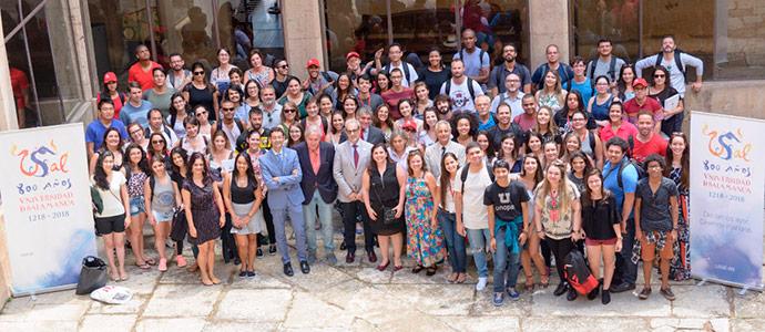 Banco Santander y la Universidad de Salamanca reciben a estudiantes brasileños de su Programa TOP España