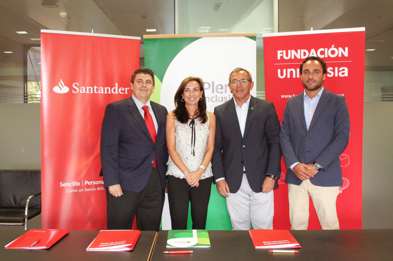 Banco Santander apoya el empleo público de personas con discapacidad intelectual