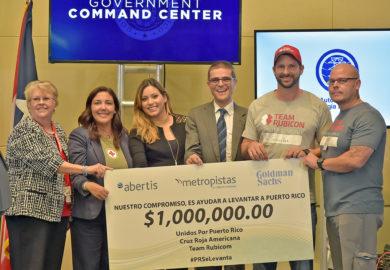 Abertis y Goldman Sachs donan 1 millón de dólares a iniciativas de ayuda por el huracán en Puerto Rico