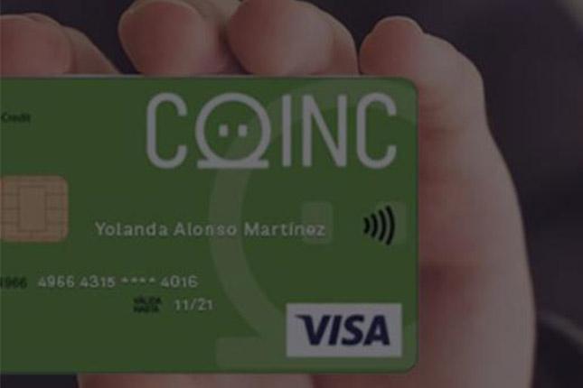 Bankinter lanza una tarjeta de crédito de Coinc