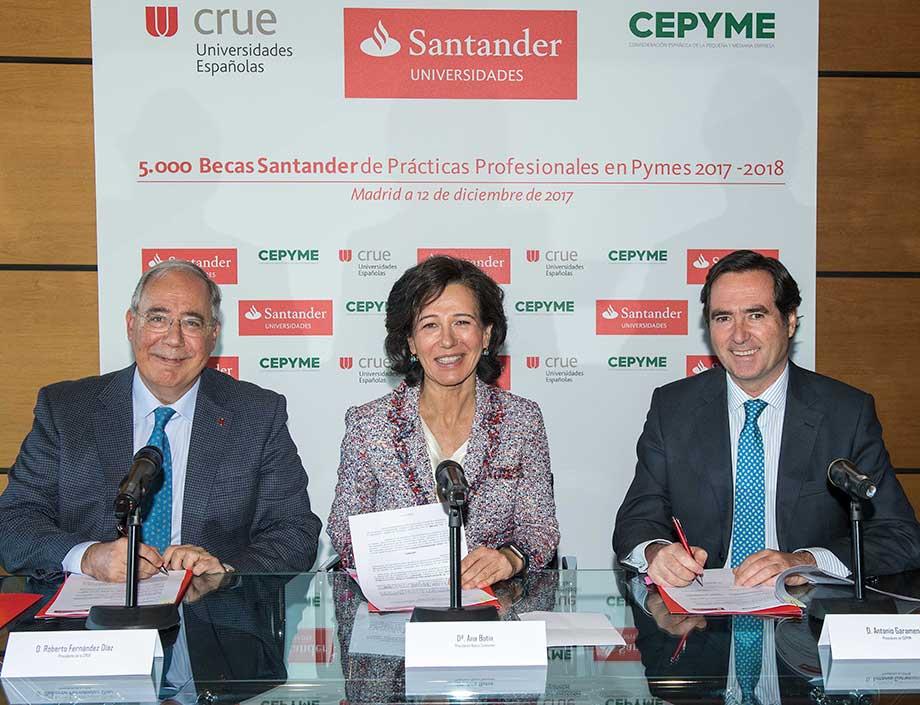 Banco Santander lanza una nueva edición del programa de becas de prácticas profesionales remuneradas en pymes