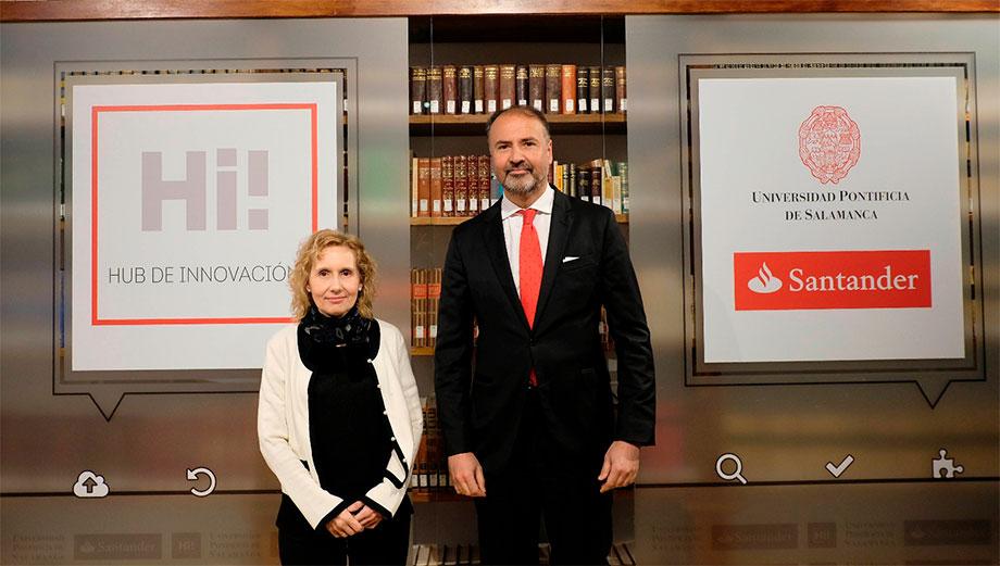 Banco Santander y la Pontificia de Salamanca presentan 'HUB UPSA-Banco Santander'