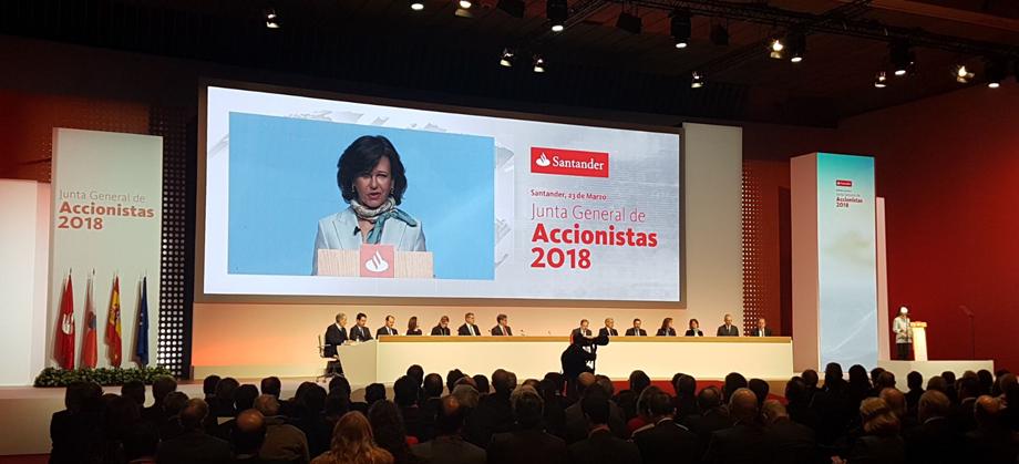 Banco Santander pagará el dividendo íntegramente en efectivo en el 2019