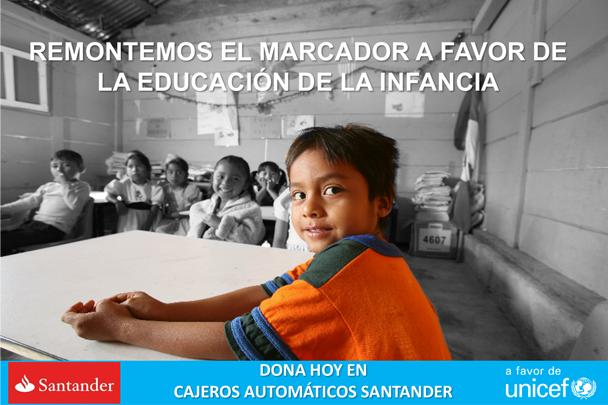 Banco Santander México y UNICEF se unen para apoyar la educación de la infancia