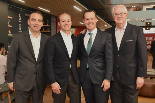 Rami Aboukhair encabeza visita de ejecutivos de Banco Santander España para conocer el modelo Work/Café en Chile