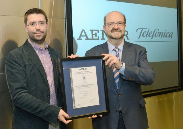 certificado aenor telefónica