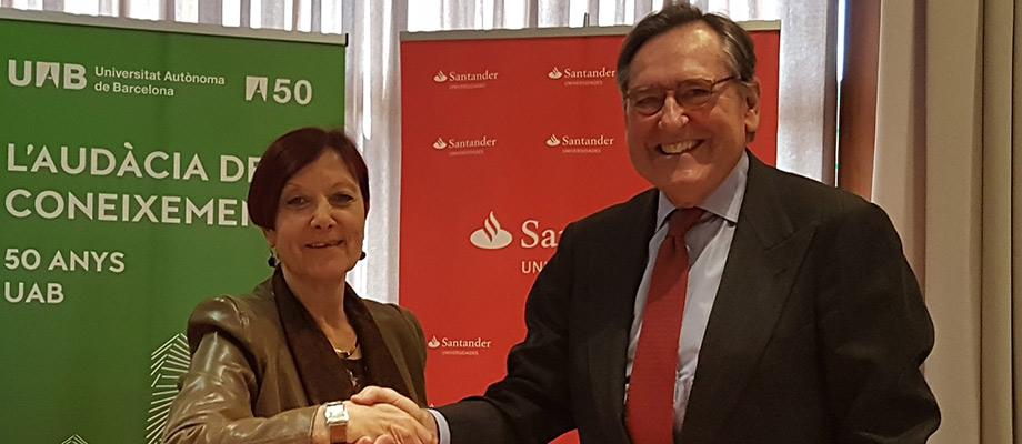 Banco Santander y la Universidad Autónoma de Barcelona se unen para fomentar la investigación