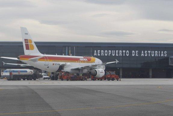 Aeropuerto Asturias. Iberias