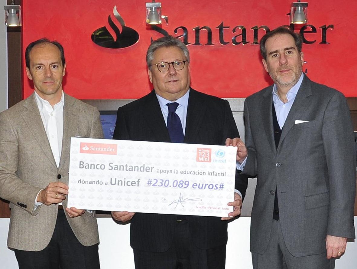 Banco Santander y UNICEF se unen para promover proyectos de educación infantil en España y México