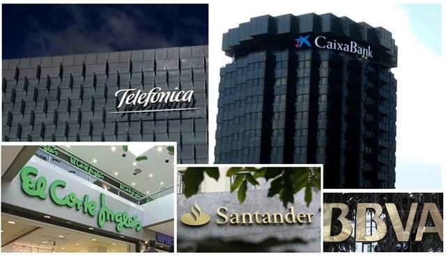 La Caixa, Telefónica, El Corte Inglés, Banco Santander y BBVA: las cinco empresas españolas con mejor reputación en España
