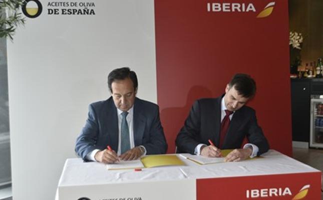 Acuerdo Iberia y Aceites de Oliva de España
