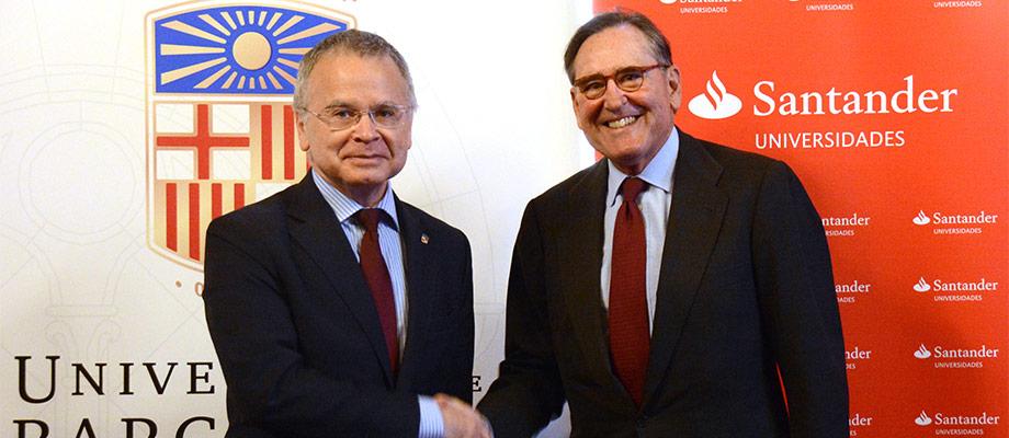 Banco Santander y la UB renuevan su colaboración que impulsa la investigación