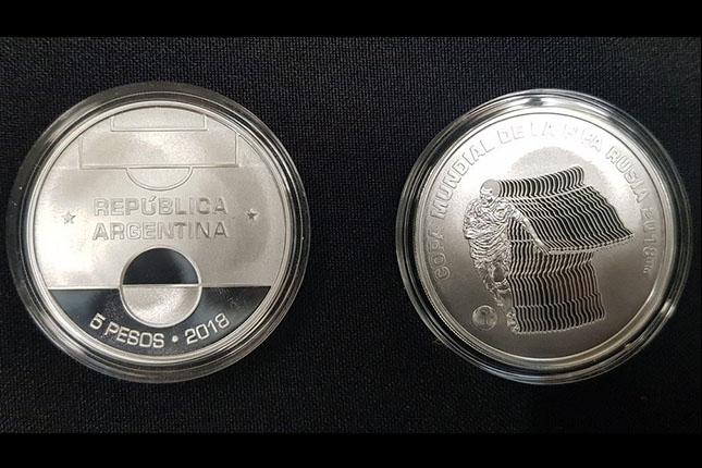 El Banco Central de Argentina presenta una moneda conmemorativa del Mundial de Rusia