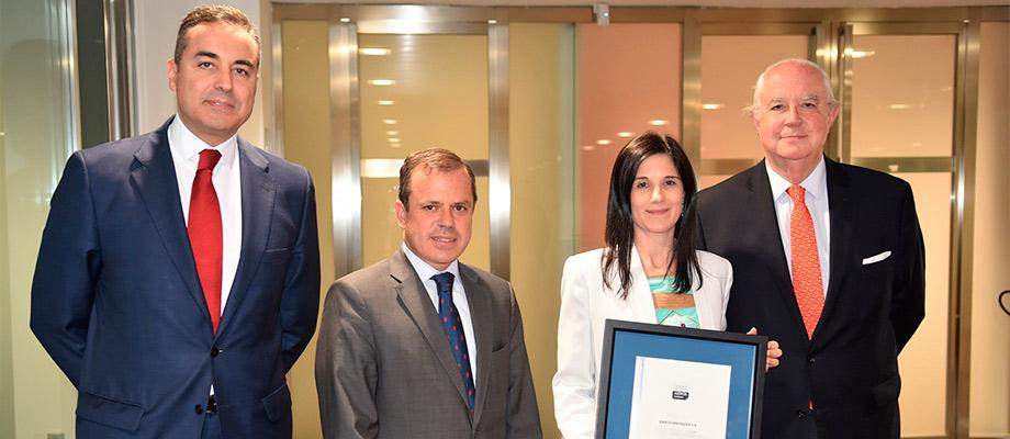 Banco Santander recibe la certificación AENOR de asesoramiento de Banca Privada