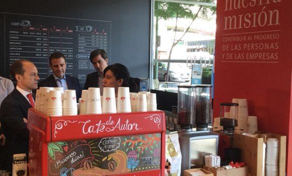 Banco Santander estrena su primer Work Café en Madrid