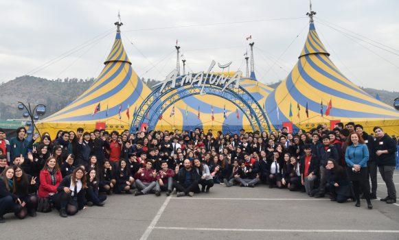 Banco Santander invita a niños y familias de fundaciones en Chile a función exclusiva de Cirque du Soleil