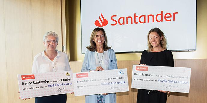 Banco Santander respalda decenas de proyectos sociales a través de un fondo solidario