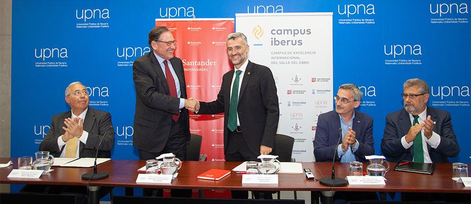 Banco Santander y Campus Iberus se unen para promover el desarrollo social y territorial del Valle del Ebro