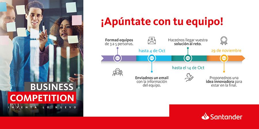 Banco Santander lanza Business Competition, en pro del talento universitario