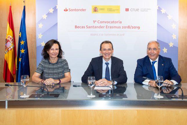 """Ana Botín: """"las Becas Santander Erasmus demuestran nuestro compromiso con la igualdad de oportunidades y la excelencia"""""""