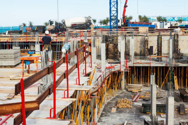 La construcción en España crece un 0,7% en noviembre