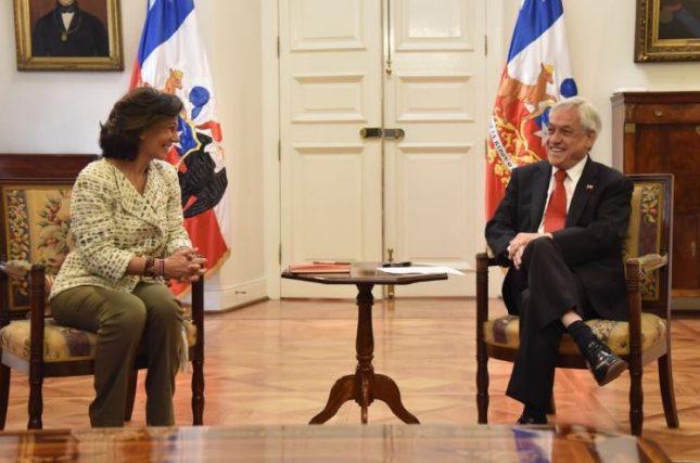 Ana Botín visita Chile y reitera el apoyo de Banco Santander al país latinoamericano