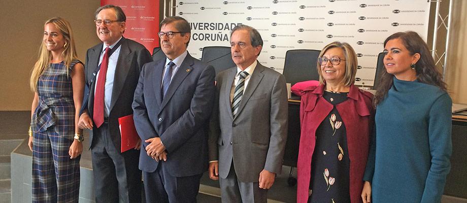 Banco Santander, la Fundación Universia y la UDC se unen para impulsar la formación socio laboral de personas con discapacidad