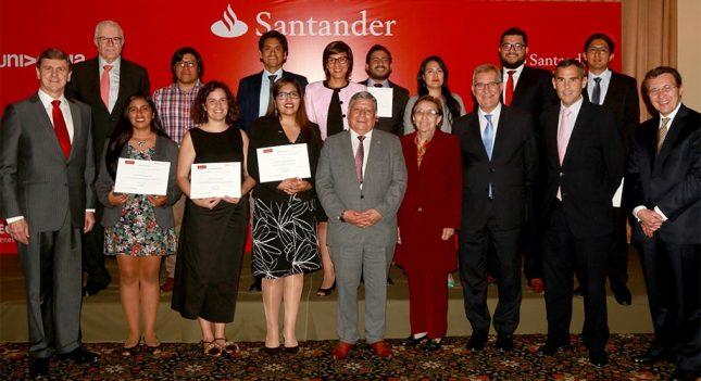 Banco Santander apoya a profesores universitarios peruanos para investigar en España, Brasil, Colombia, México y Argentina