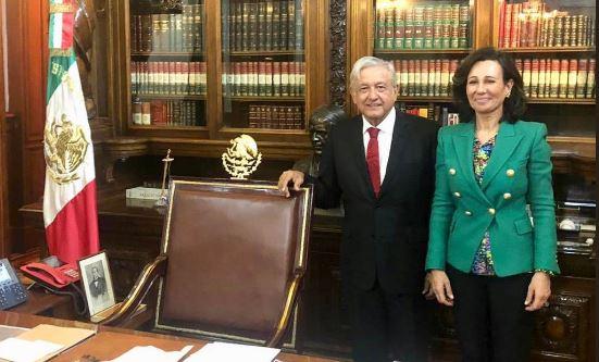Ana Botín (Banco Santander) visita México y se une con el presidente López Obrador