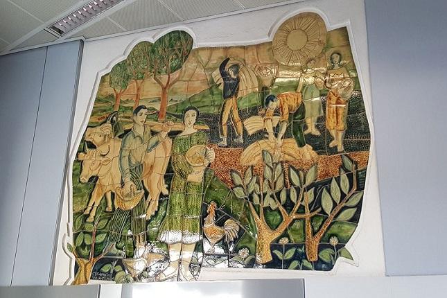CaixaBank cede un mural cerámico al Terracotta Museu