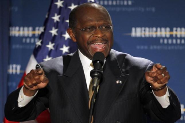 Herman Cain abandona la carrera hacia la Fed
