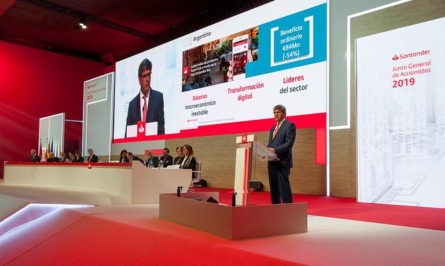 José Antonio Álvarez considera que Banco Santander está en buena posición para afrontar el nuevo plan estratégico