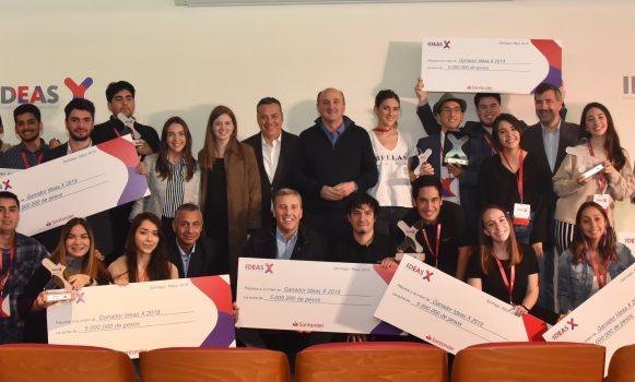 Banco Santander Chile impulsa el programa Ideas X en pro del emprendimiento universitario