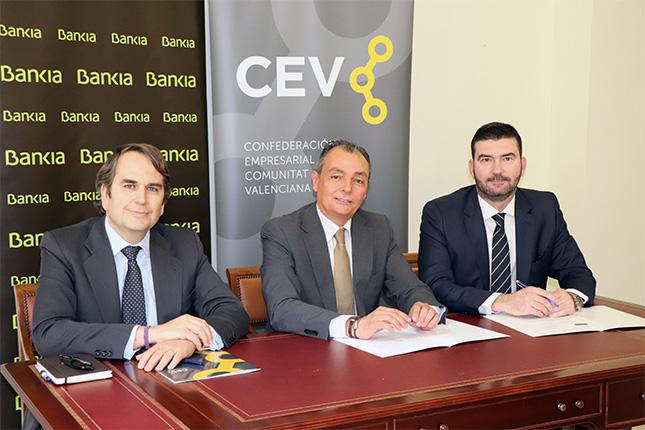Bankia y la CEV apoyan a las empresas de Valencia