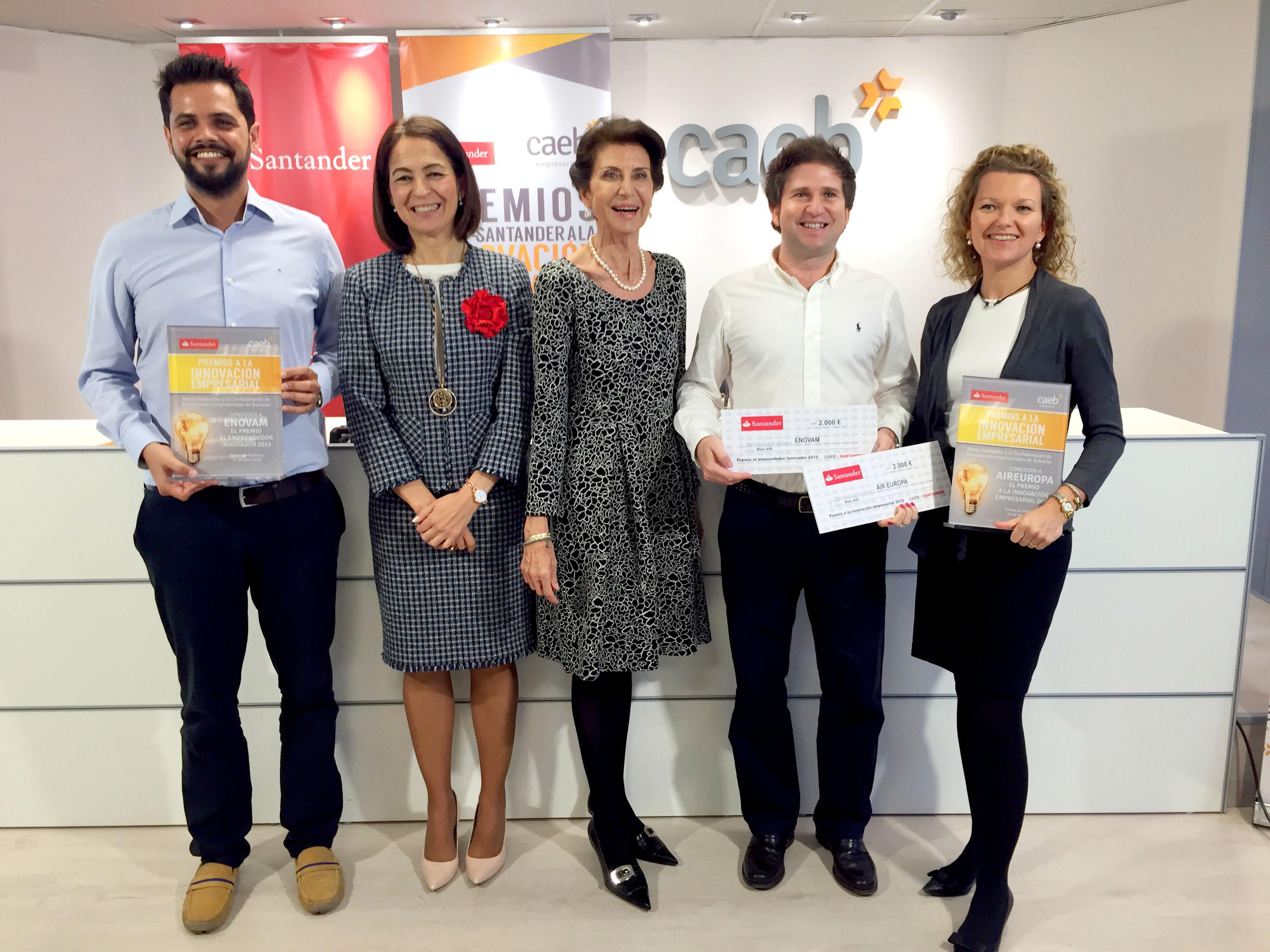 Banco Santander y CAEB convocan IV Edición de Premios a la Innovación Empresarial para Pymes