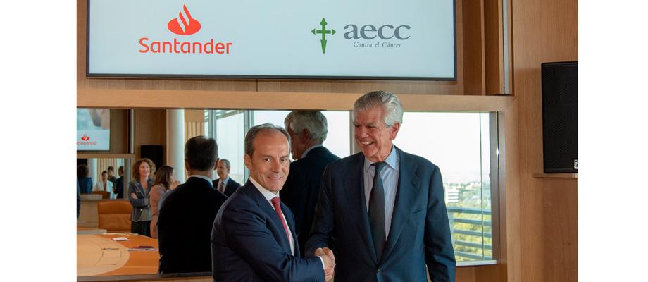 Banco Santander se une a la Asociación Española contra el Cáncer (AECC), para ayudar a las mujeres con cáncer de mama