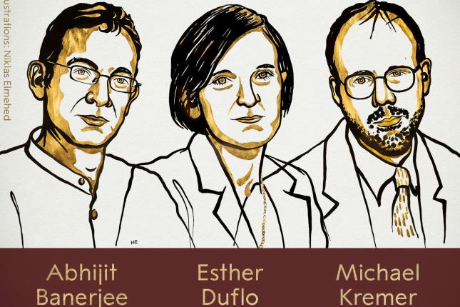 Abhijit Banerjee, Esther Duflo y Michael Kremer, Premio Nobel de Economía 2019