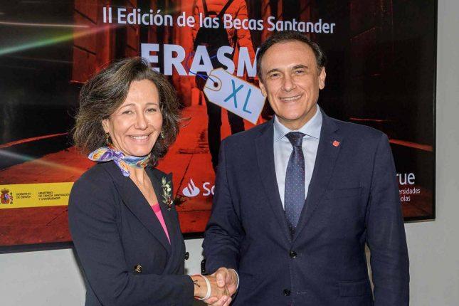 Banco Santander impulsa la segunda edición de Becas Erasmus con el Ministerio y Crue Universidades Españolas