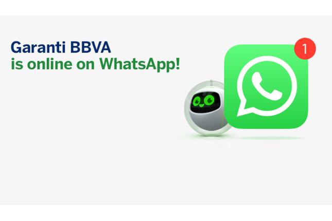 Garanti BBVA está en WhatsApp