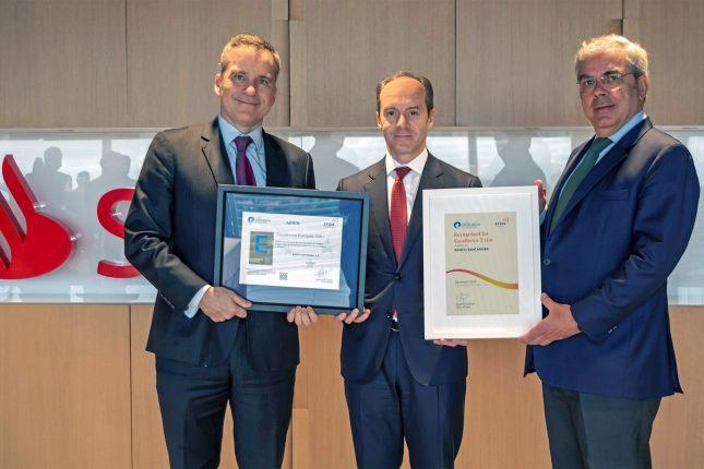 Banco Santander España renueva el Sello de Excelencia Europea EFQM 500 +