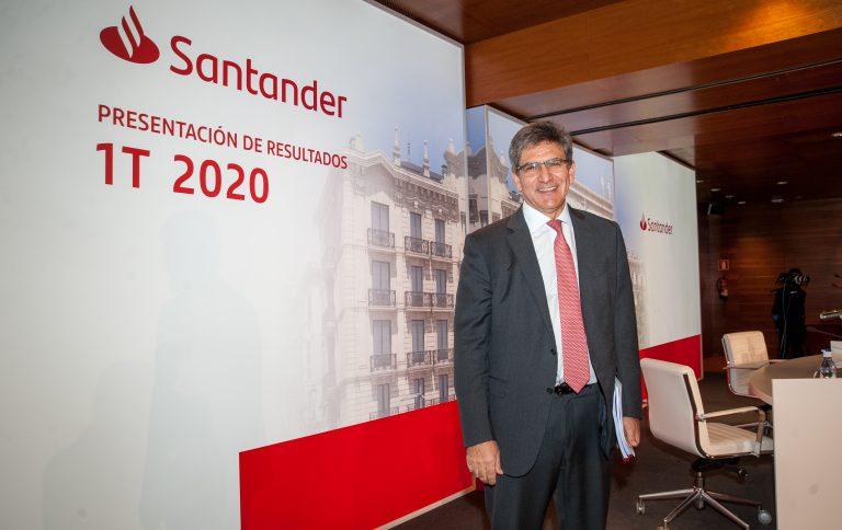 Banco Santander gana 331 millones en el primer trimestre de 2020, tras provisionar 1.600 millones por COVID-19