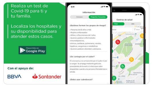 Banco Santander México y BBVA México impulsan una aplicación con información clave para hacer frente al Covid-19