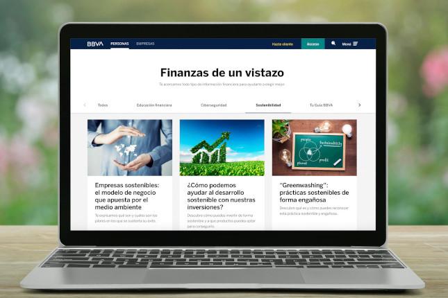 BBVA estrena una sección de sostenibilidad en su 'web'