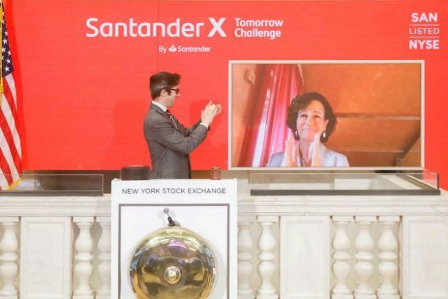 La Bolsa de Nueva York destaca la gestión de Banco Santander contra los efectos de la crisis por el coronavirus
