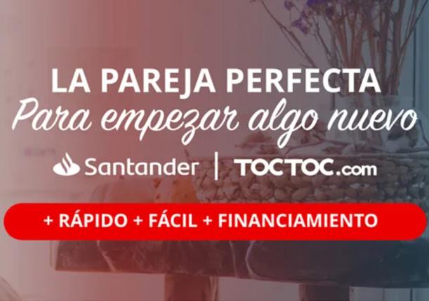 Banco Santander Chile y TOCTOC.com renuevan su alianza de gestión inmobiliaria con nuevas soluciones digitales