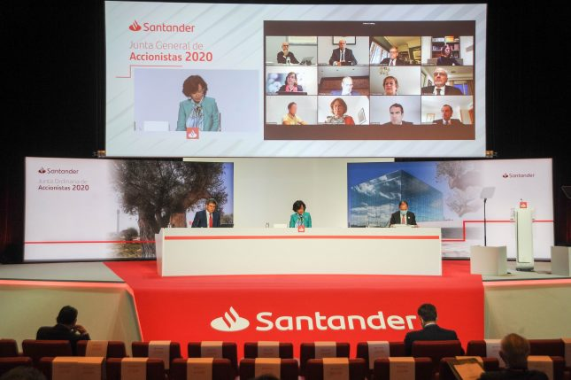 La Junta de Accionistas de Banco Santander da 'luz verde' al pago de dividendos