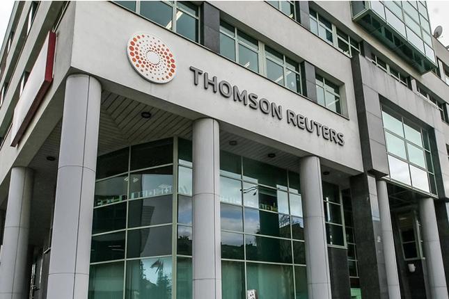 Thomson Reuters gana 205 millones de euros en el tercer trimestre